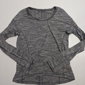 Lululemon Long Sleeve Grey Top 4/6?
